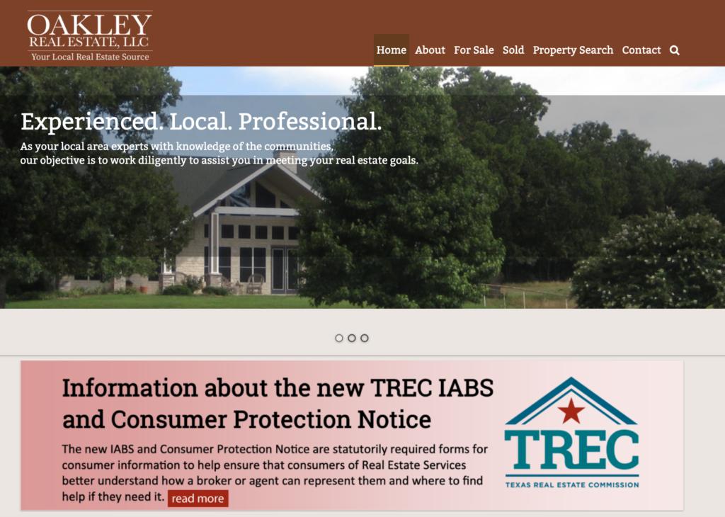 Oakley Real Estate, LLC website